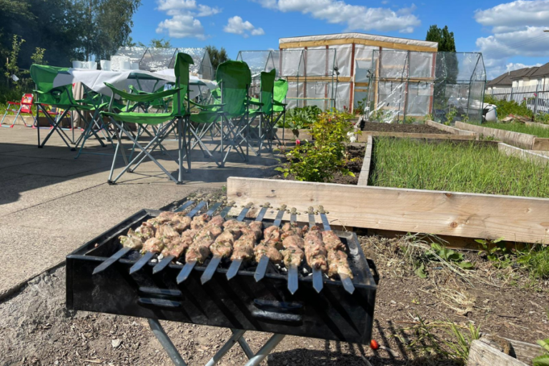 Cooking in the sunshine